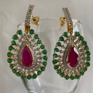 Jewelry - NWT Bollywood Indian Wedding Earrings
